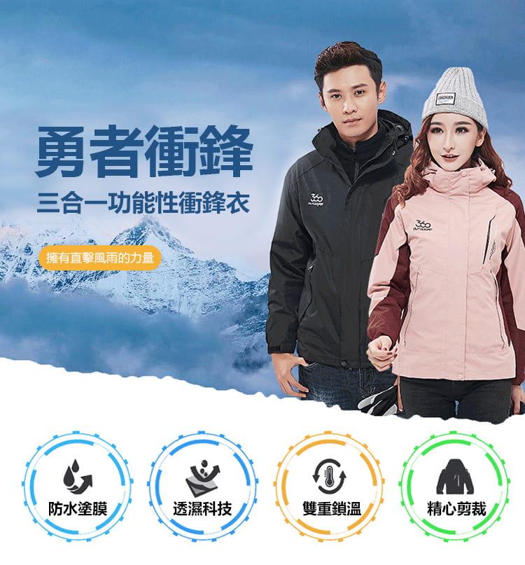 防水保暖禦寒衝鋒外套|三穿 8