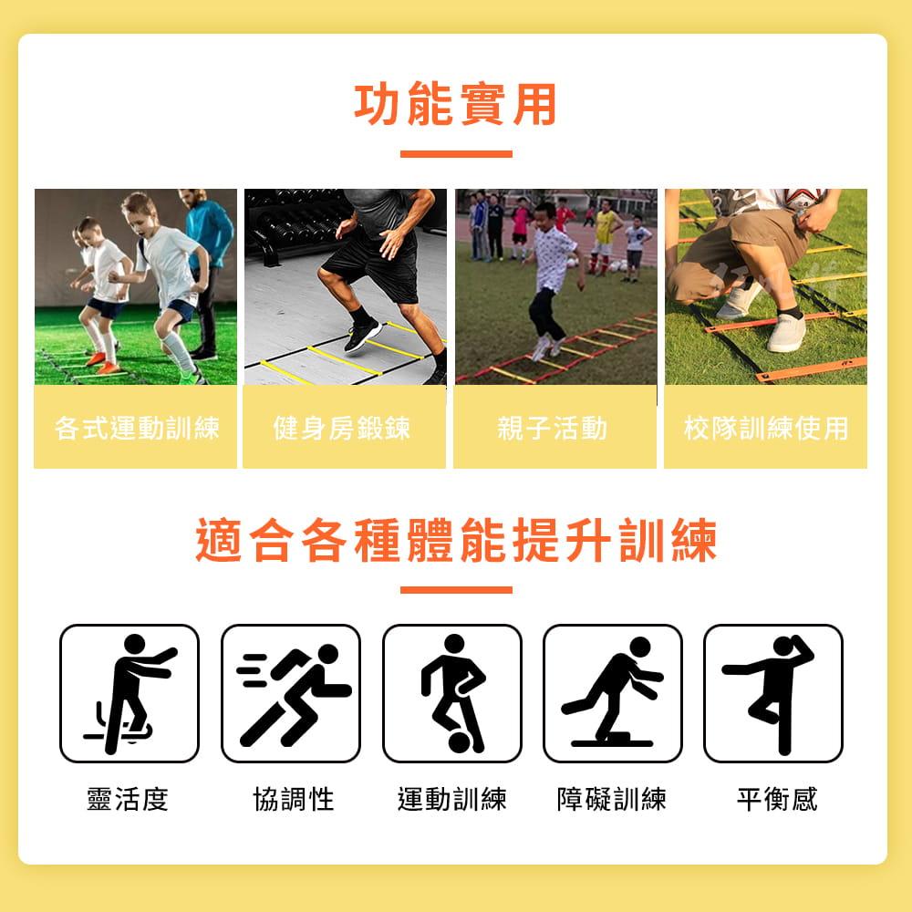 【NORDITION】4M步伐訓練跳格梯◆台灣製 訓練梯 敏捷 速度 繩梯 腳力 調整式 可加長 贈收納袋 田徑球隊 6