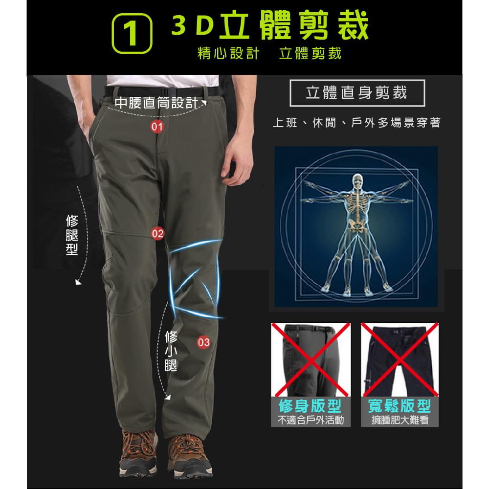 【NEW FORCE】戶外機能保暖衝鋒褲-男女款 2