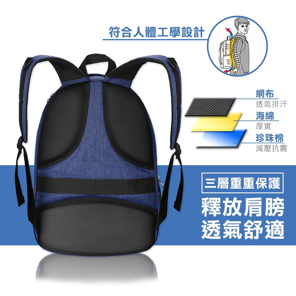 【AOTEKIN】防水透氣大容量多層電腦後背包 2