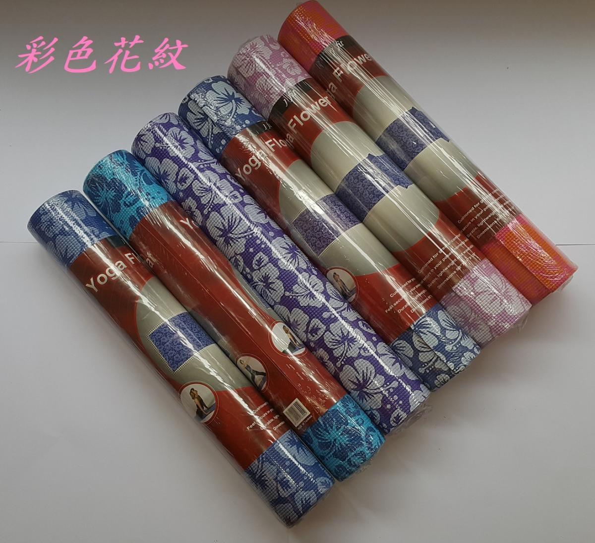 【u-fit】 優質彩色花紋瑜珈運動墊 3