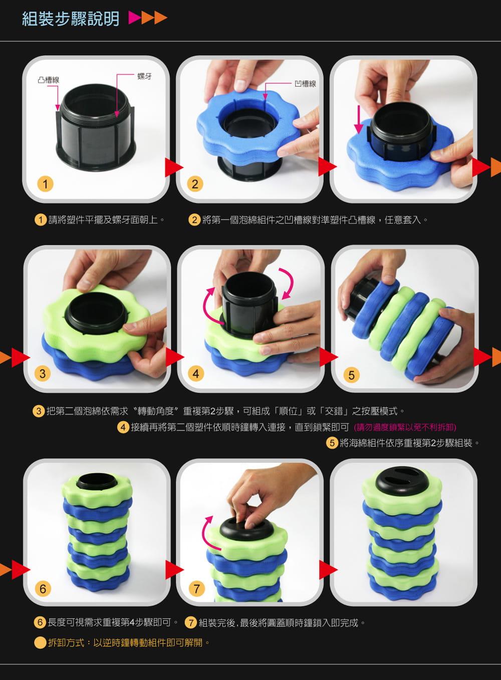 U-roller瑜伽滾輪 長版48公分【黑色硬版】 4