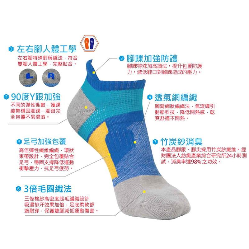 MIT除臭足弓防護機能健康襪 5