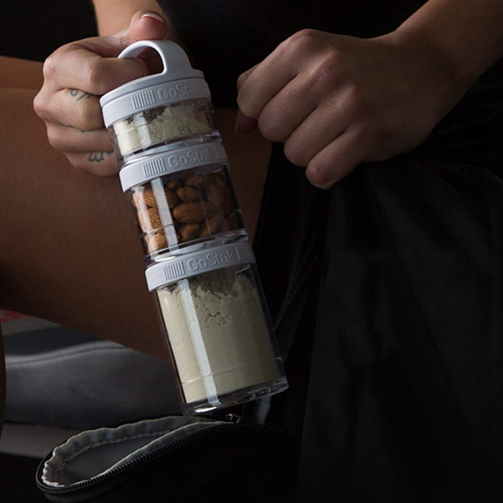 【Blender Bottle】Gostak系列-多層補給保鮮罐(黑) 13