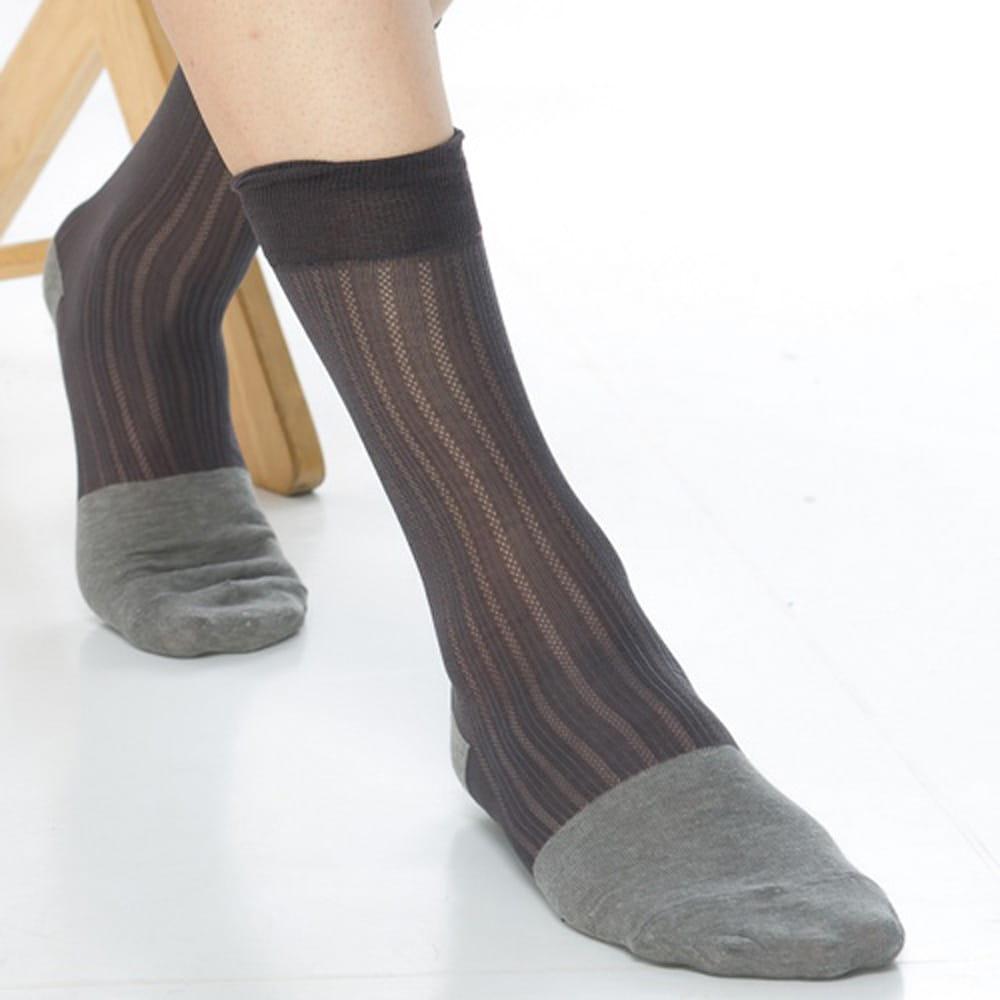 【KEROPPA可諾帕】奈米竹炭絲光棉紳士男襪x2雙C90007 3