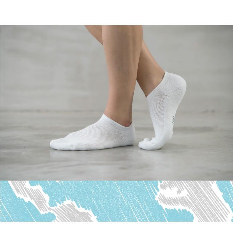 【Peilou】機能抗菌萊卡除臭船型氣墊襪(男) 3