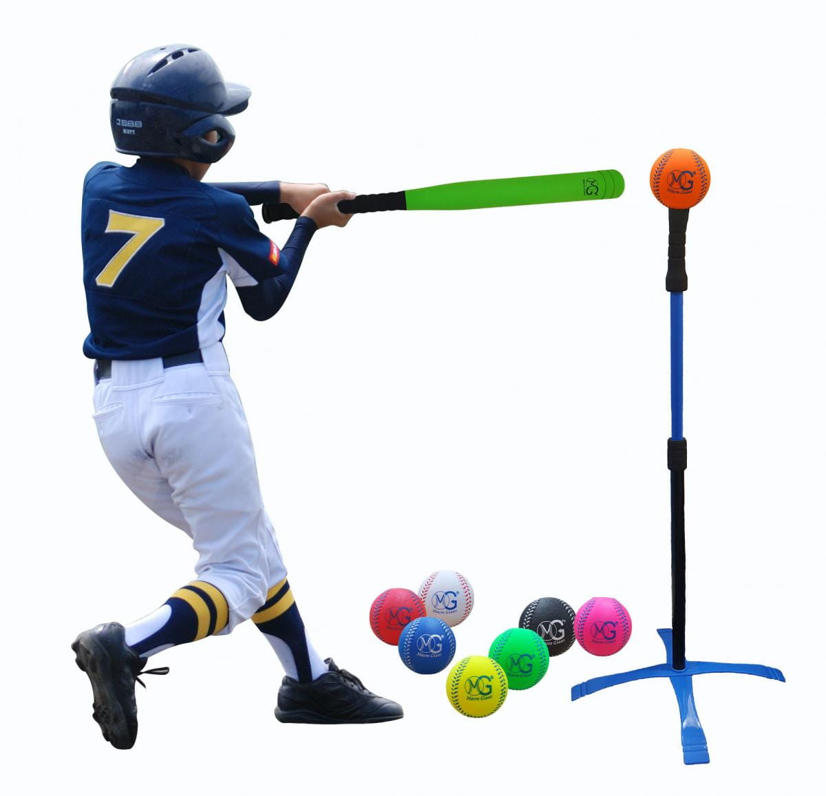 【Macro Giant】MIT 樂樂棒球打擊組 附擊球架 2