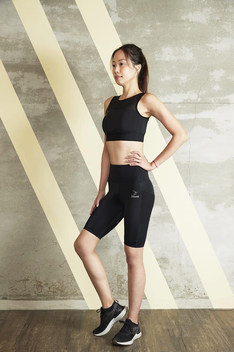 【ELASTI】美行機能口袋健身褲(五分短褲款) 2