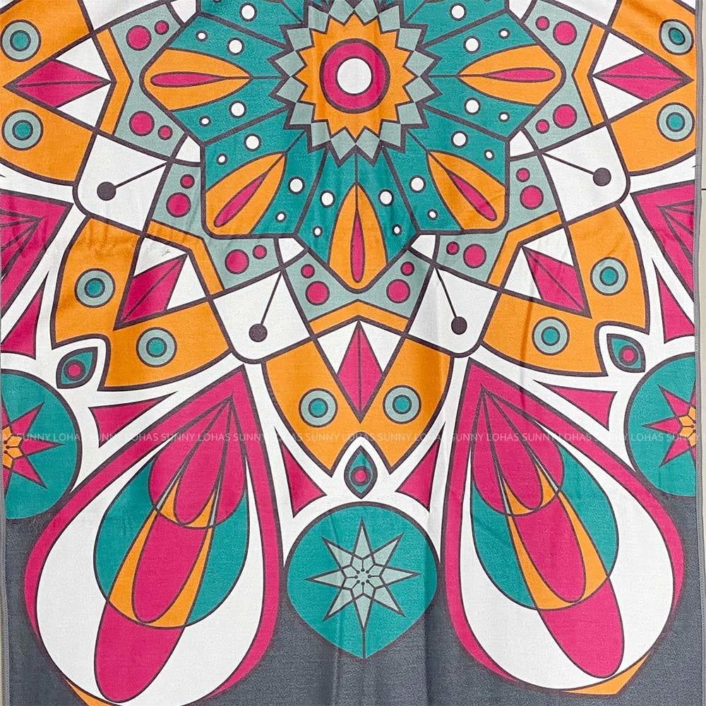 矽膠止滑瑜珈巾 瑜珈鋪巾 瑜珈墊 地墊 SNAY12灰 4