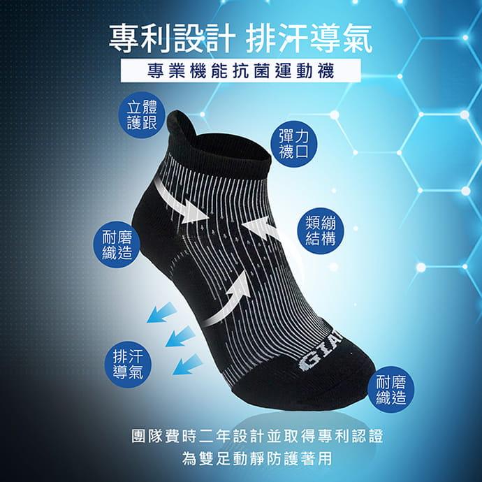 【GIAT】台灣製專利護跟類繃壓力消臭運動襪 2