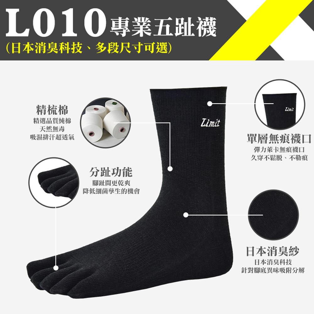 【力美特機能襪】專業五趾襪(黑) 0
