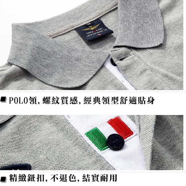 空軍MA1刺繡翻領吸汗透氣純棉短袖POLO衫 7色 M-4XL碼【 CW434212】 14