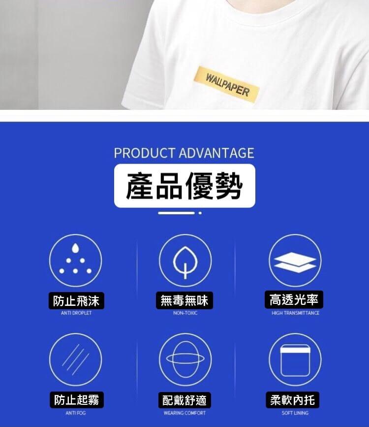 【高品質】防護面罩3入 防飛沫 3