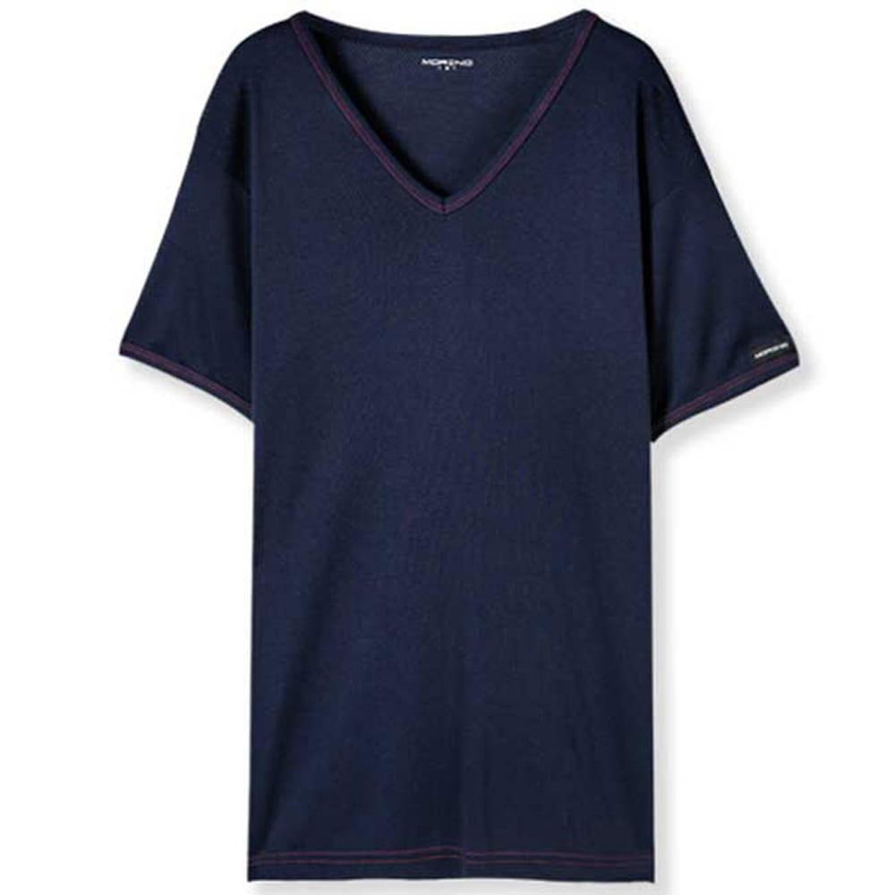 【MORINO摩力諾】吸汗速乾短袖V領衫 4