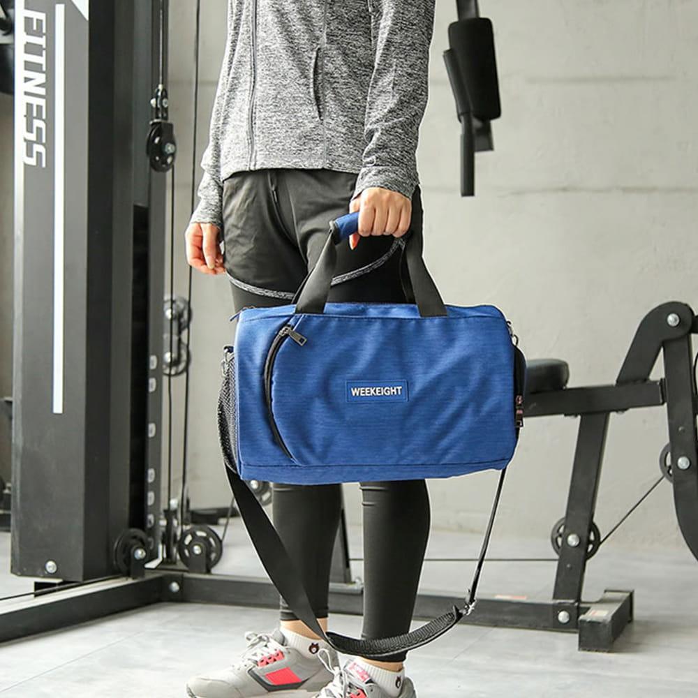 【E.City】大容量圓筒乾溼分離運動健身包 10
