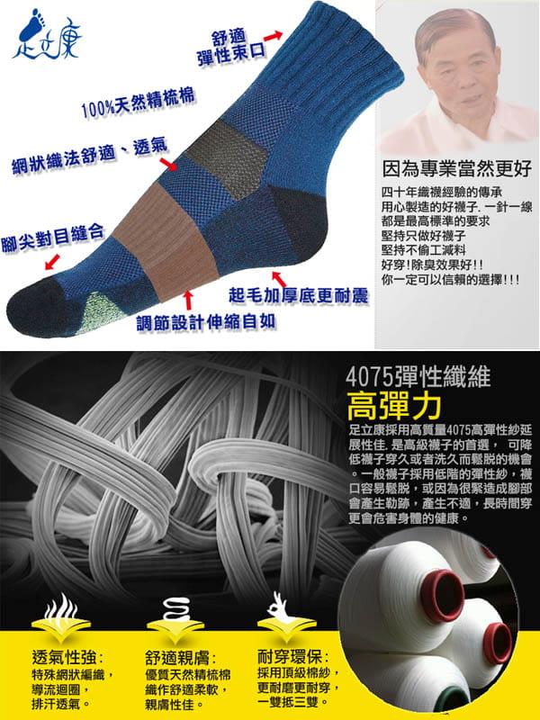 超短氣墊毛巾奈米科技健康除臭襪[F31] 6