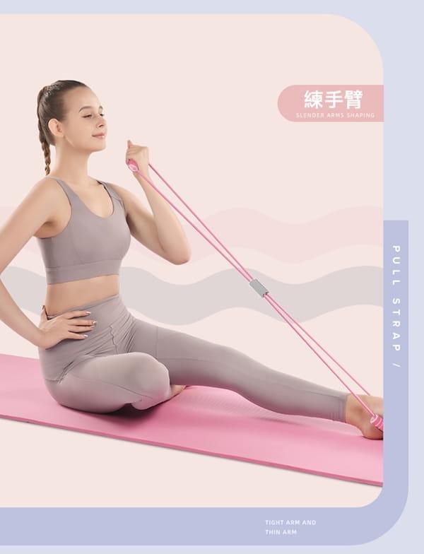健身瑜珈拉伸八字彈力繩 10