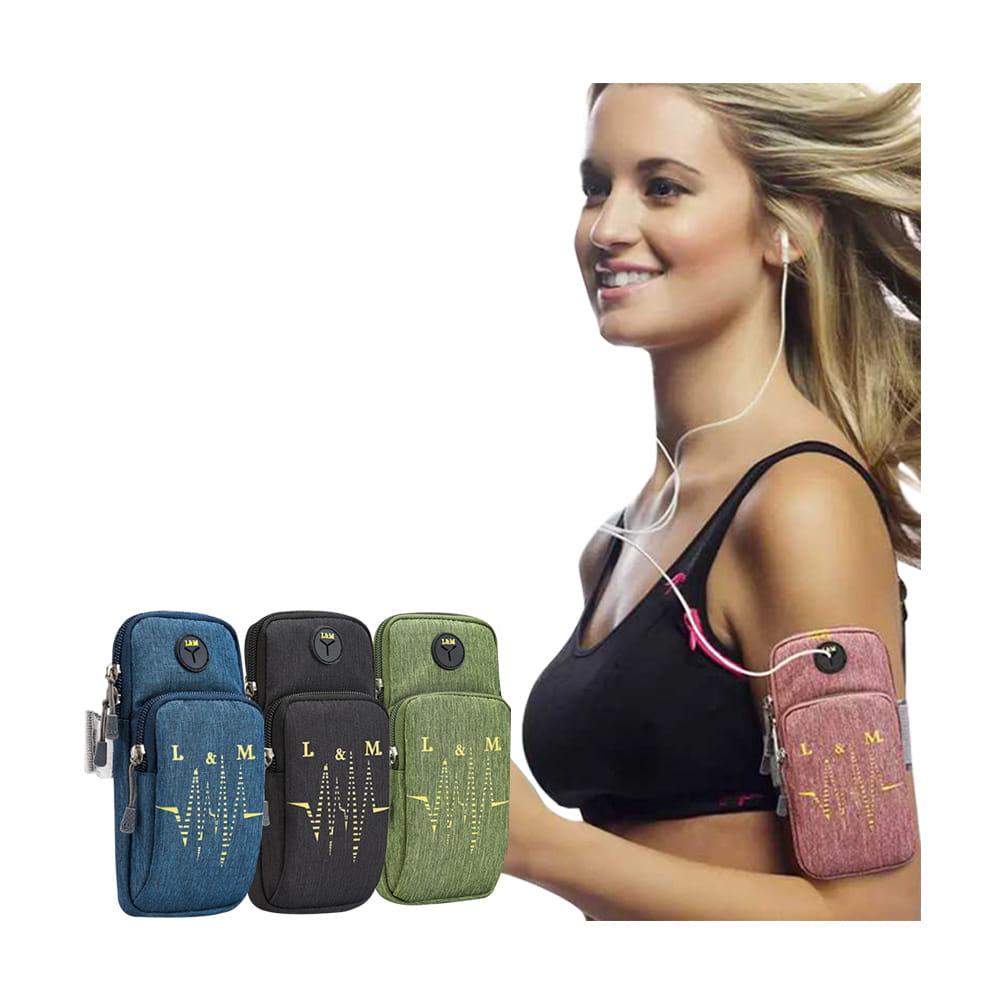 Smart Mall◆防水透氣跑步自行車運動手機音樂臂包臂袋臂帶臂套7.2吋 0