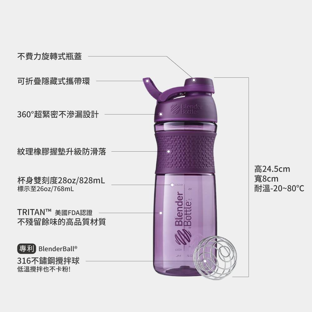 【Blender Bottle】Sportmixer系列-Tritan旋蓋式搖搖杯28oz 6