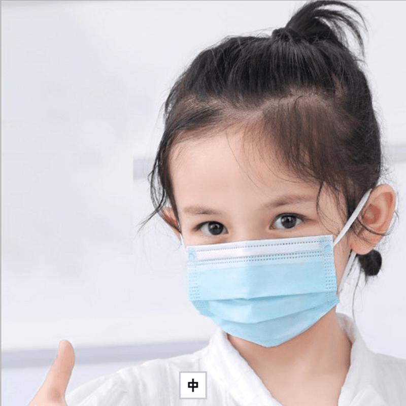 【英才星】非醫療成人兒童三層加厚口罩(粉藍/粉紅任選) 10