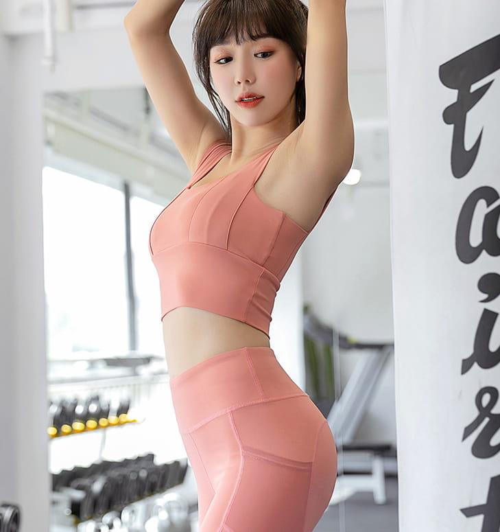 【健身神器】口袋性感高腰蜜桃裸感健身壓力褲 瑜珈褲 重訓褲 運動褲 健身褲 6