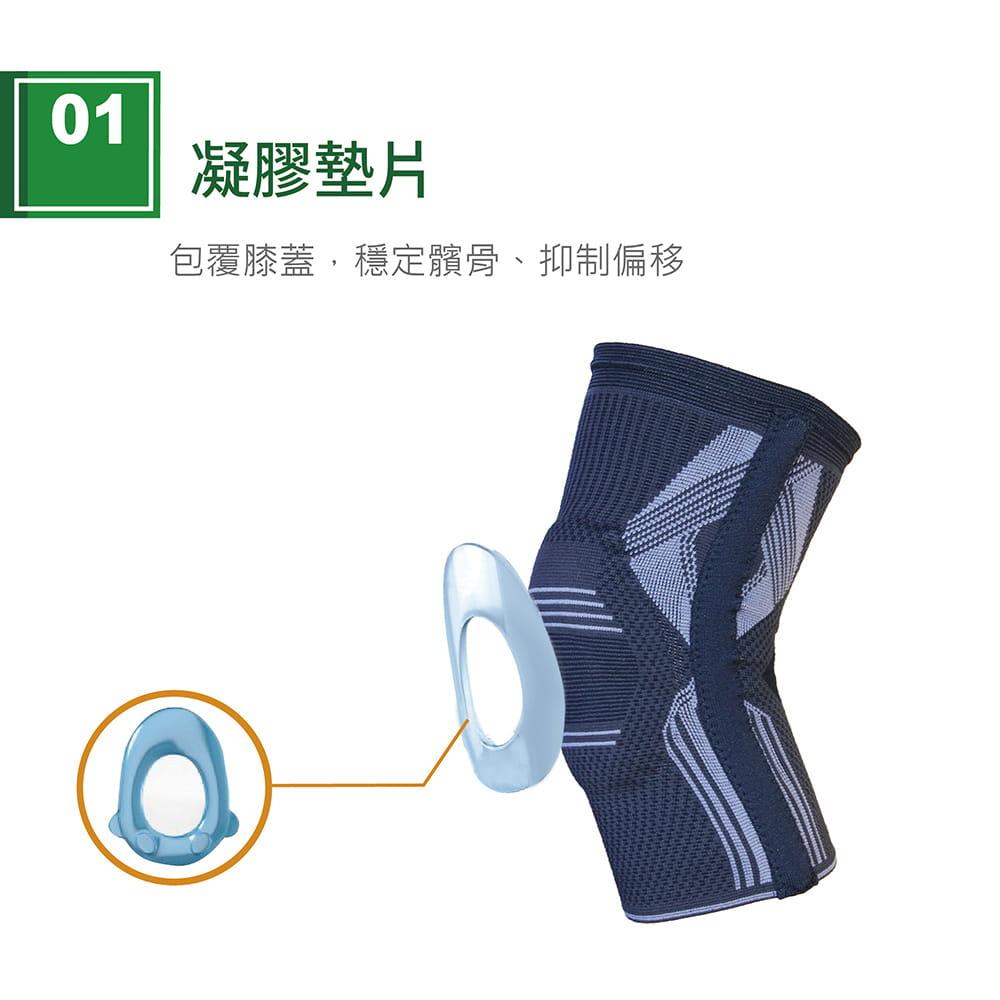 【艾肯仕】AC-7S02套入式凝膠護膝(MIT台灣製造) 2