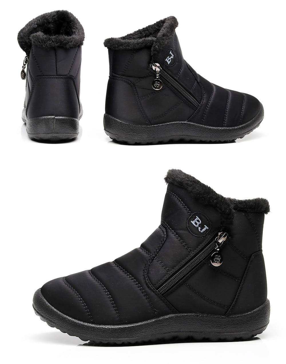 防水保暖防滑厚毛絨雪靴(36-42碼/3色可選) 13
