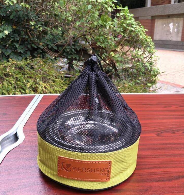 不銹鋼碗碟套戶外野營飯碗湯碗菜盤燒烤餐具 12個套裝(附收納袋)