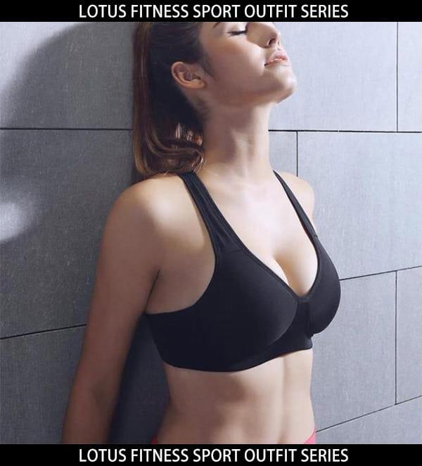 零著感一體成型低脊心後扣運動內衣-躍動黑 9