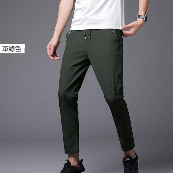 素面鬆緊腰彈力休閒褲/直筒褲/運動褲/加大碼 L-8XL碼【CP16036】 5