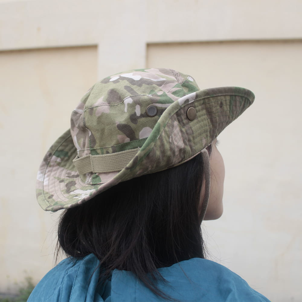 【E.City】可翻釦迷彩風戶外遮陽帽漁夫帽 4