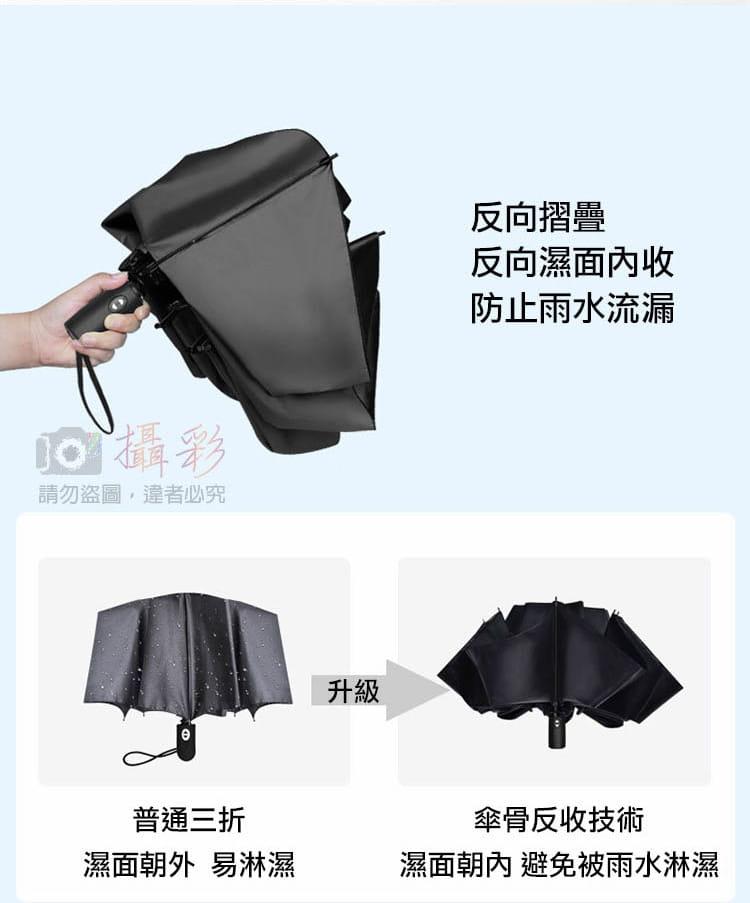 黑膠摺疊反向傘 3