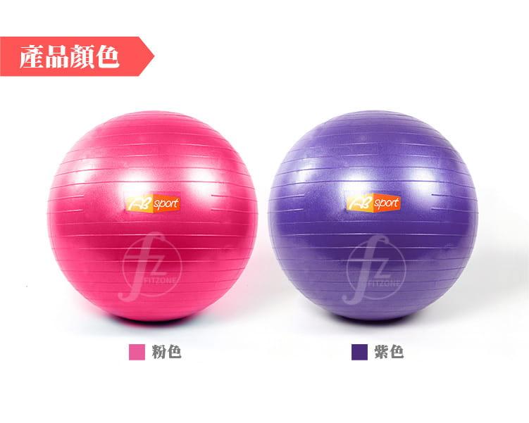 【ABSport】65cm 防爆瑜珈球/韻律球/球彈力球/抗力球/運動球/健身球/復健球/感覺統合球 2