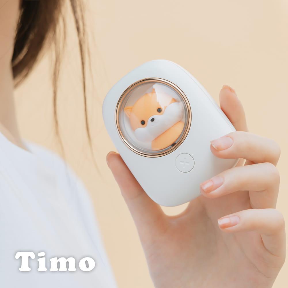 Timo USB充電 小倉鼠上吹式掛脖風扇 0