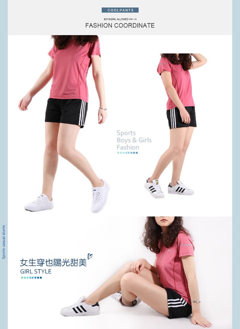 【JU休閒】彈力涼感 速乾機能涼感褲 運動短褲 (男女款) 16