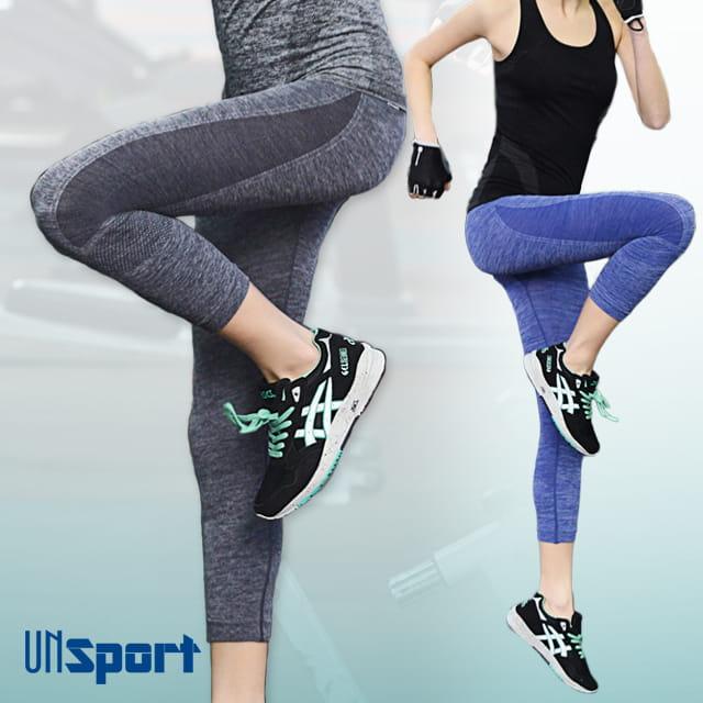 【Un-Sport高機能】高彈力AB紗透氣托肌七分褲(瑜伽/健身/跳舞) 0