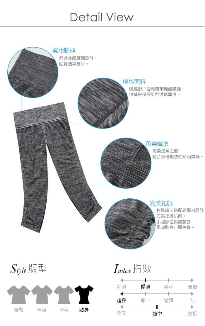 【Un-Sport高機能】高彈力AB紗透氣托肌七分褲(瑜伽/健身/跳舞) 1