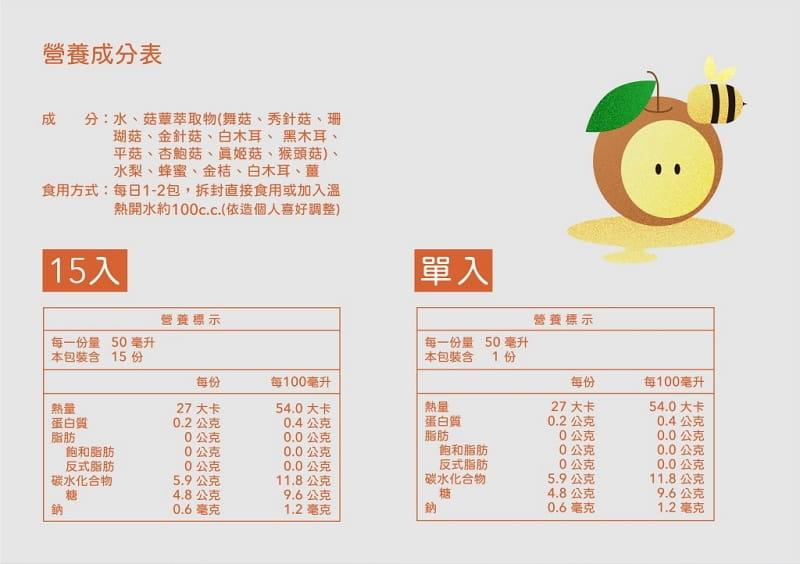 【啓祺嘉neutrallo+】蜜梨飲- 台灣荔枝蜜 水梨 有機白木耳 11