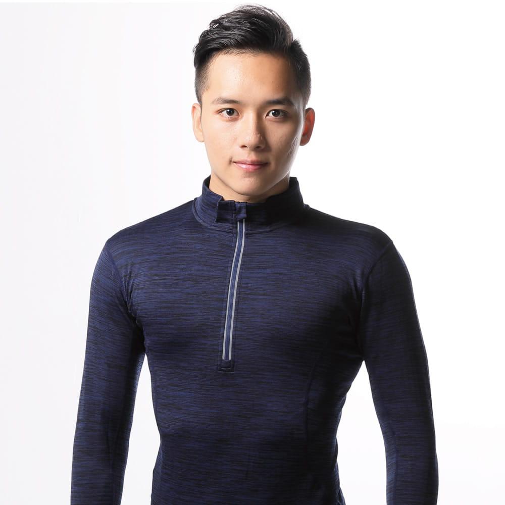 【QI藻土屋 】超保暖高質感磨毛吸濕排汗速乾運動保暖休閒上衣 3