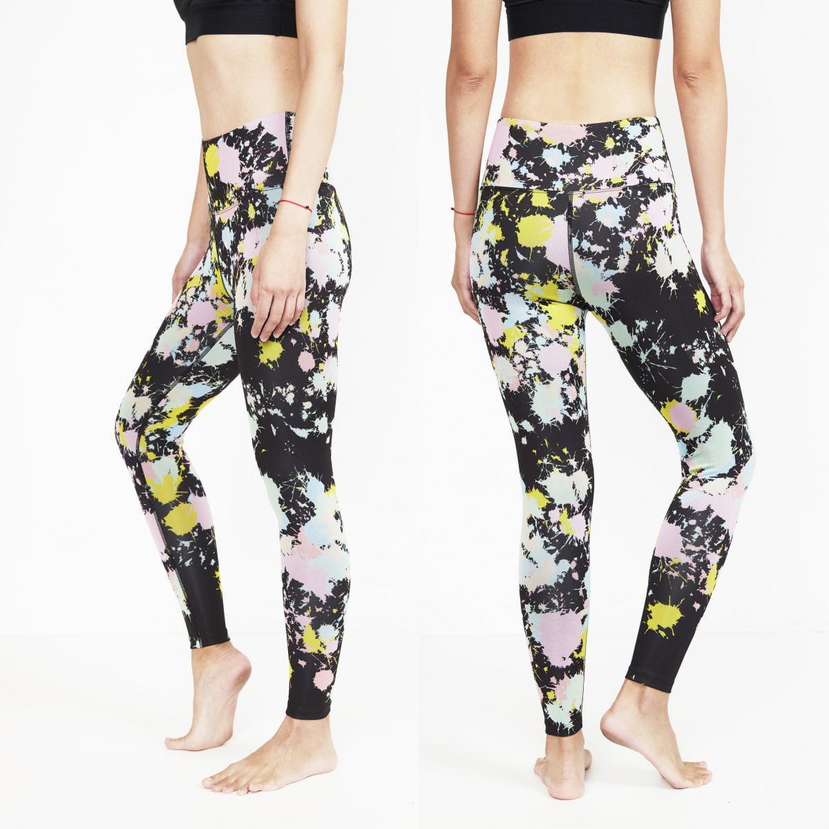 【ELASTI】典莎瑜珈褲(碘紗抗菌除臭機能)-恣意揮灑 2