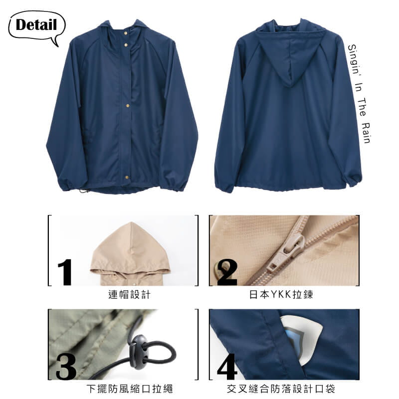 【Peilou】防風防潑水輕量連帽外套(男/女款) 6