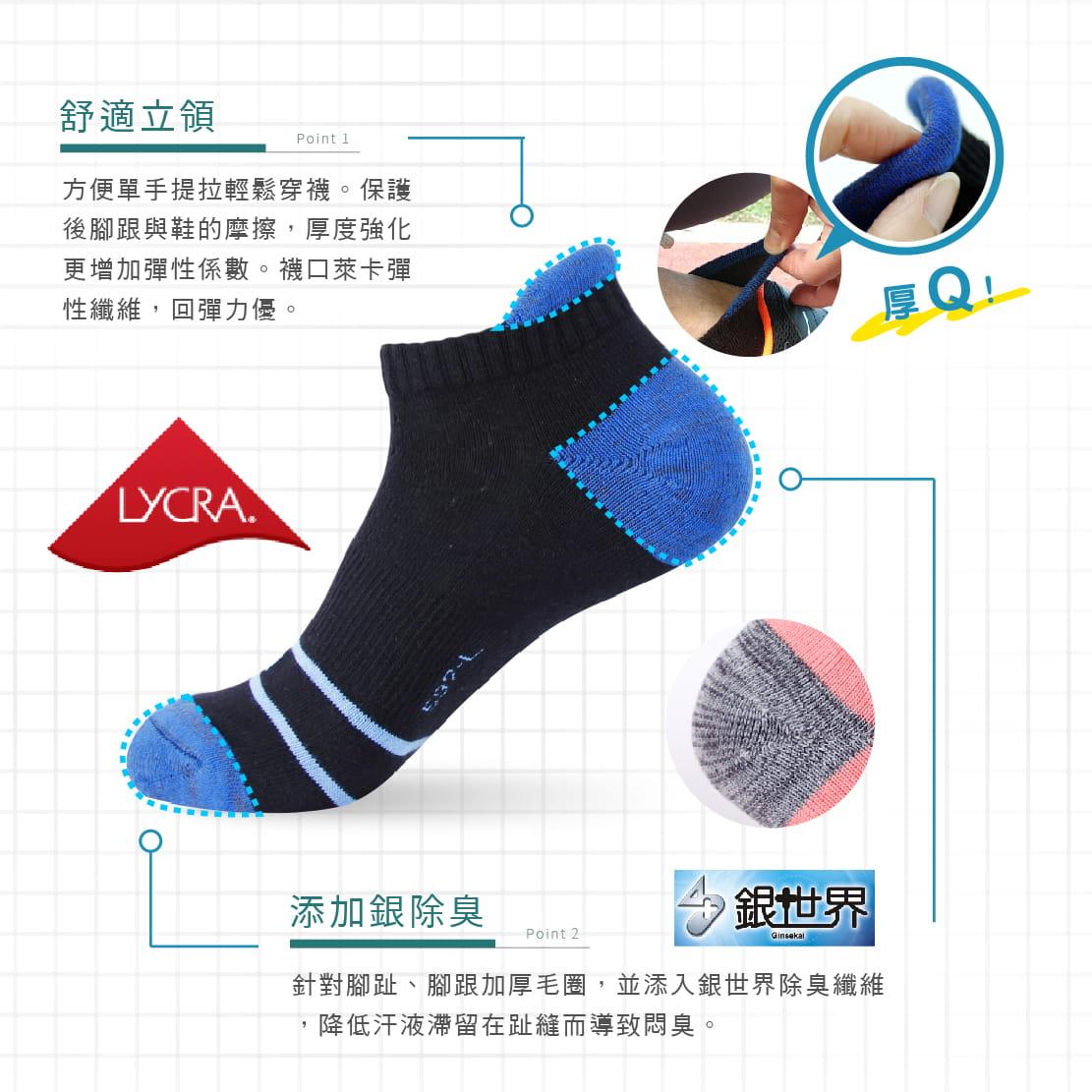 【FAV】後跟防磨除臭男女運動短襪 1
