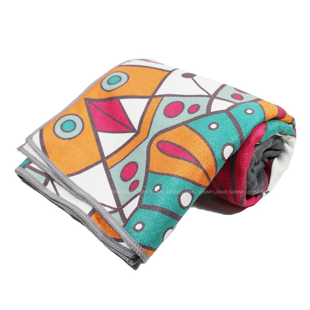 矽膠止滑瑜珈巾 瑜珈鋪巾 瑜珈墊 地墊 SNAY12灰