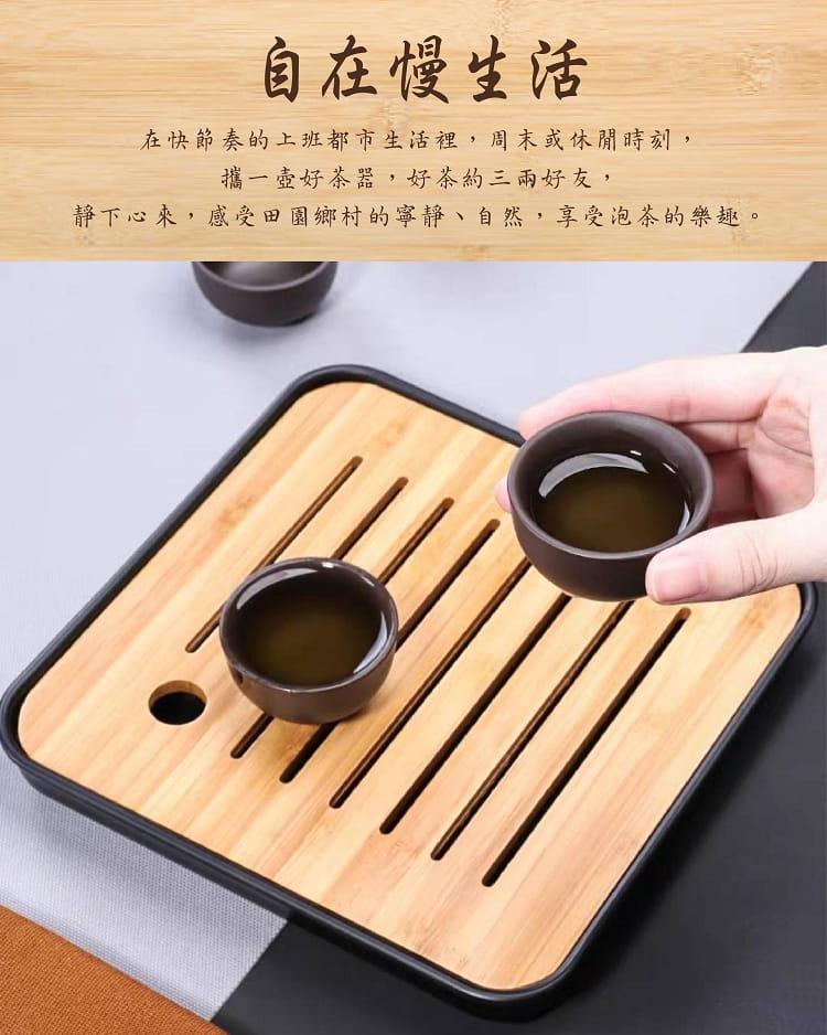 旅行便攜式紫砂茶具6件組 7