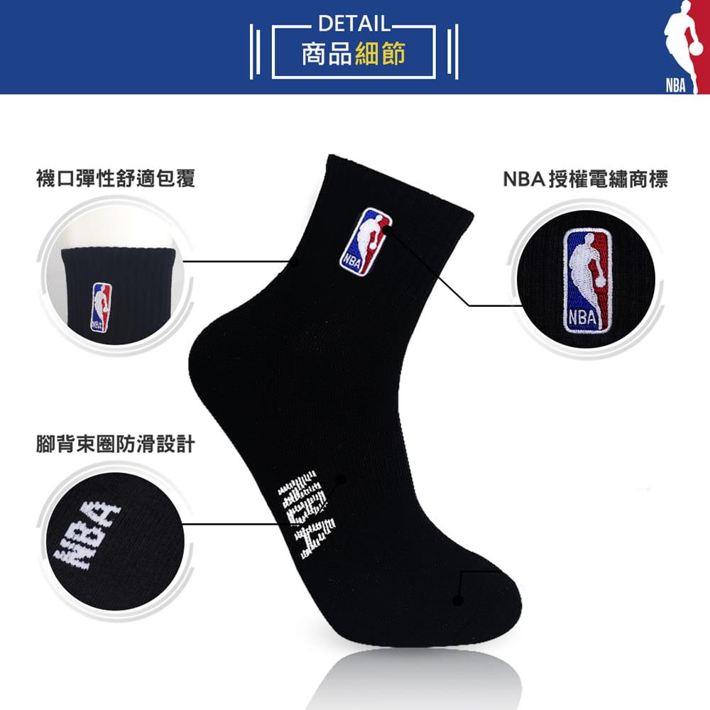 【NBA】襪子 平版襪 短襪 LogoMan刺繡短襪 5