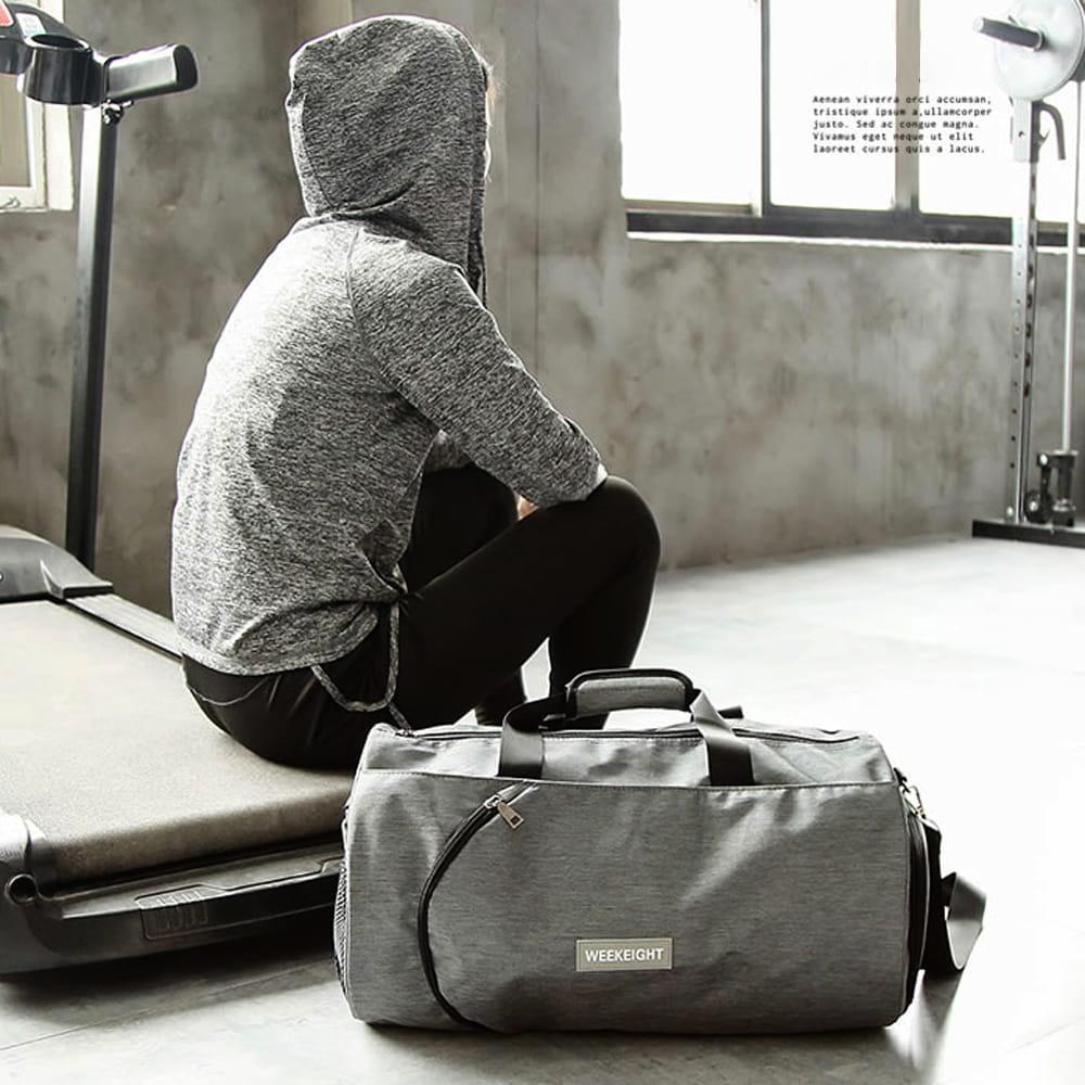 【E.City】大容量圓筒乾溼分離運動健身包 7