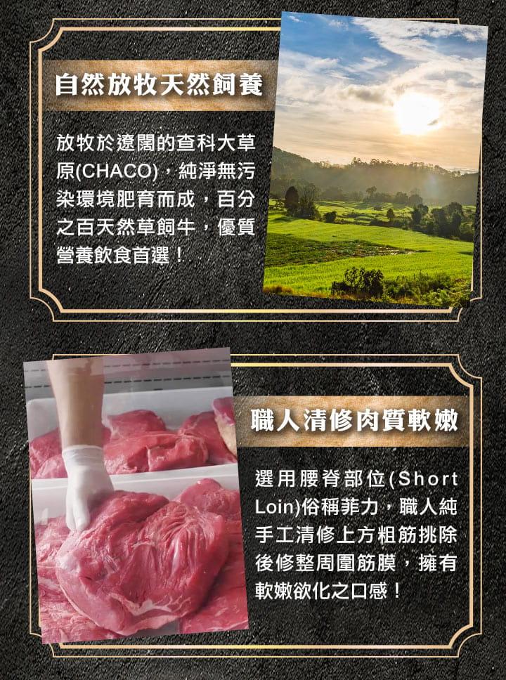 【愛上健康】特級修清菲力牛排 4