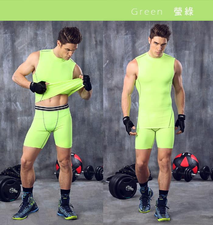 【Un-Sport高機能】專業吸排男用緊身五分褲-超值二入組(路跑/健身/籃球) 9