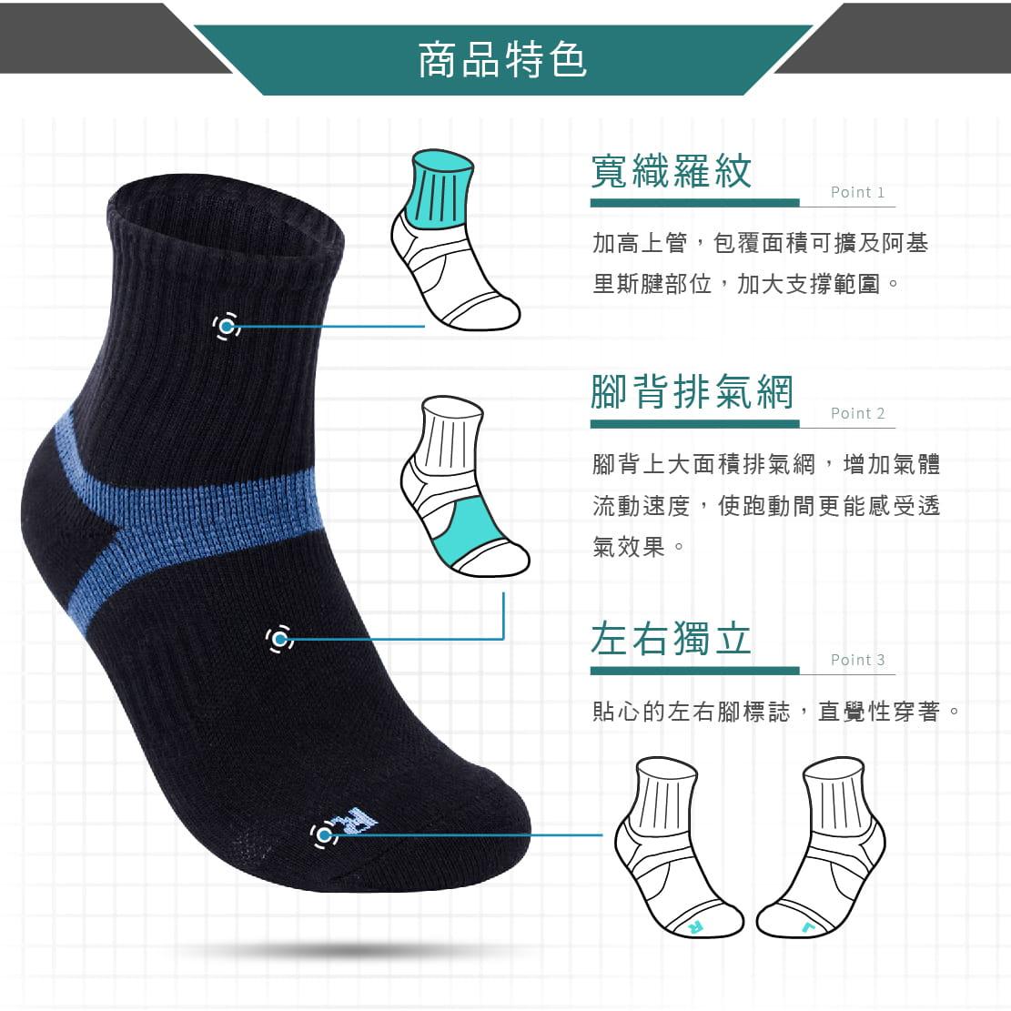 【FAV】足弓機能運動襪 2
