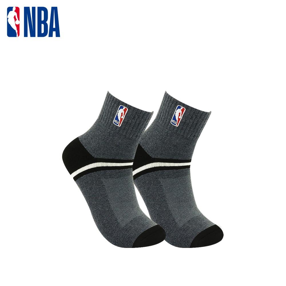 【NBA】 經典刺繡束腳底網眼毛圈短襪 6